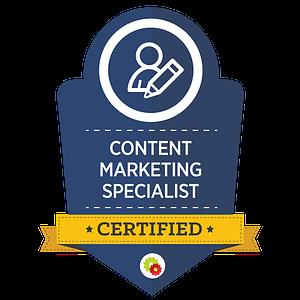 Certified Content Marketing Specialist badge 1