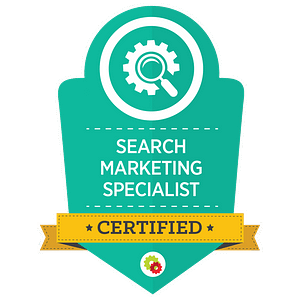 Certified Search Marketing Specialist badge 1