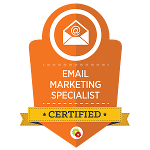 Certified Email Marketing Specialist badge 1