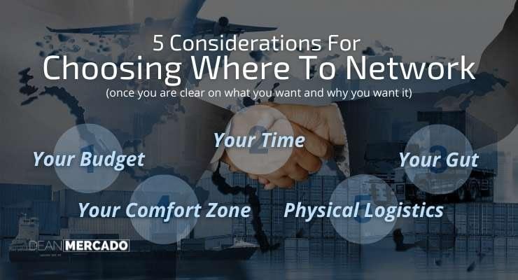Choosing Where To Network